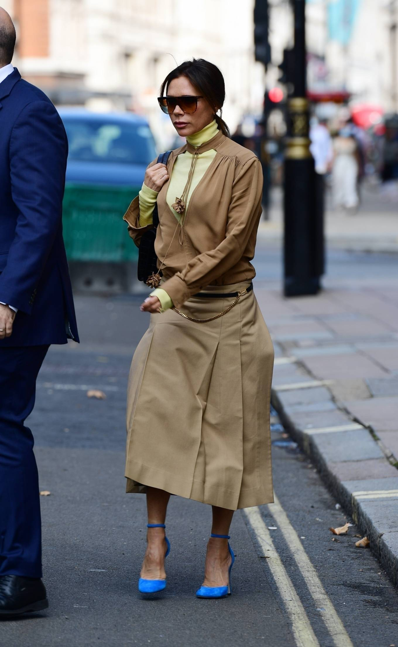 Victoria Beckham - Leaving Wolsley Restaurant in Central London