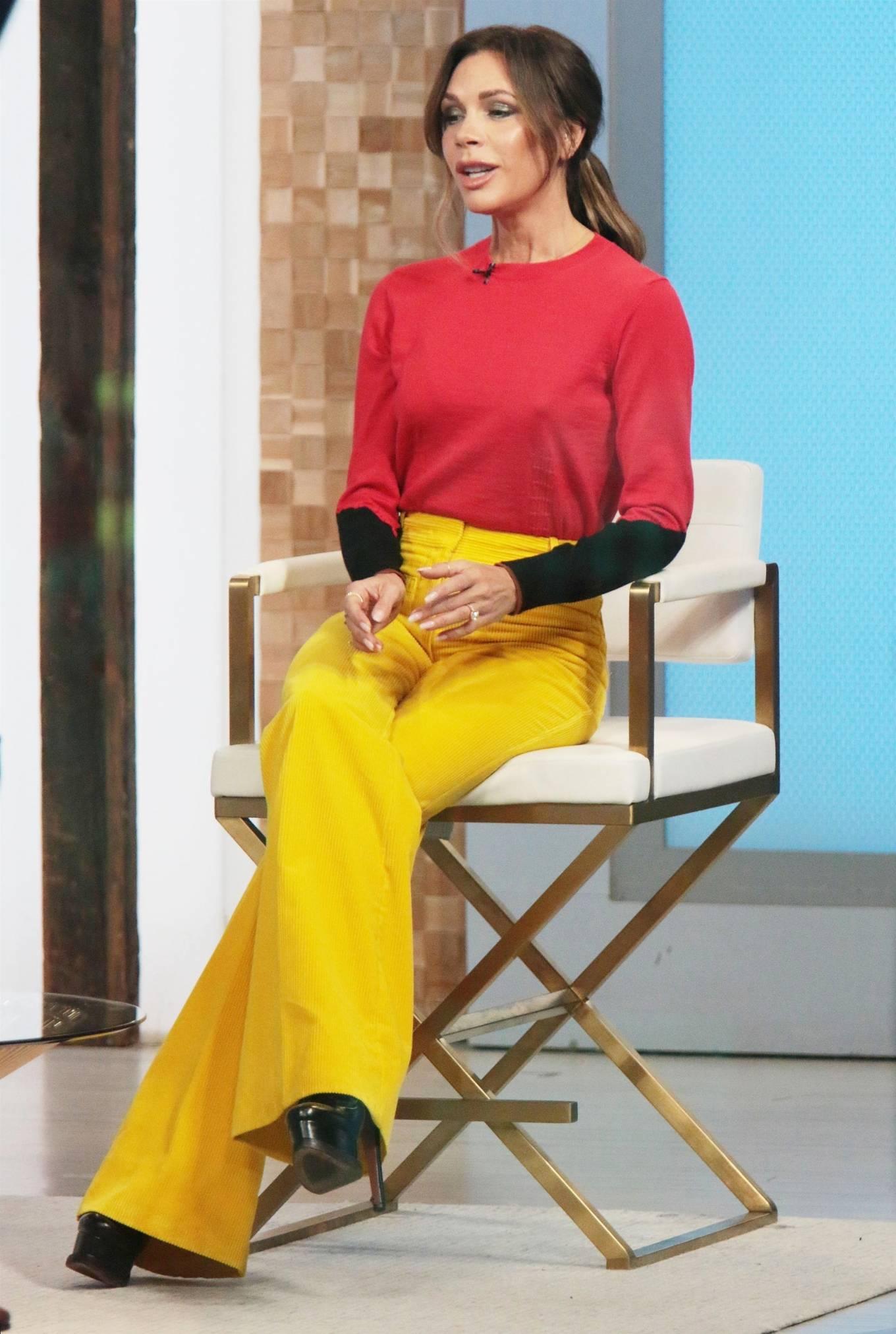 Victoria Beckham 2021 : Victoria Beckham – on Good Morning America promoting her new designer clothing in New York City-05