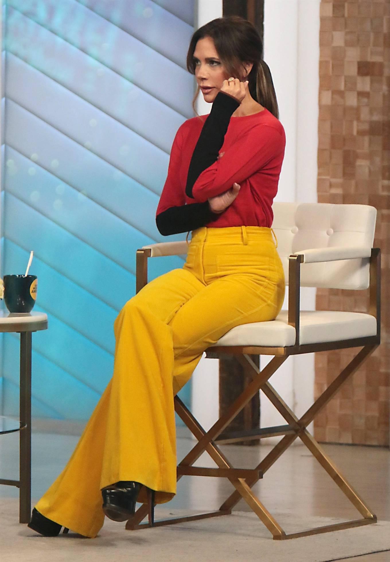 Victoria Beckham 2021 : Victoria Beckham – on Good Morning America promoting her new designer clothing in New York City-06