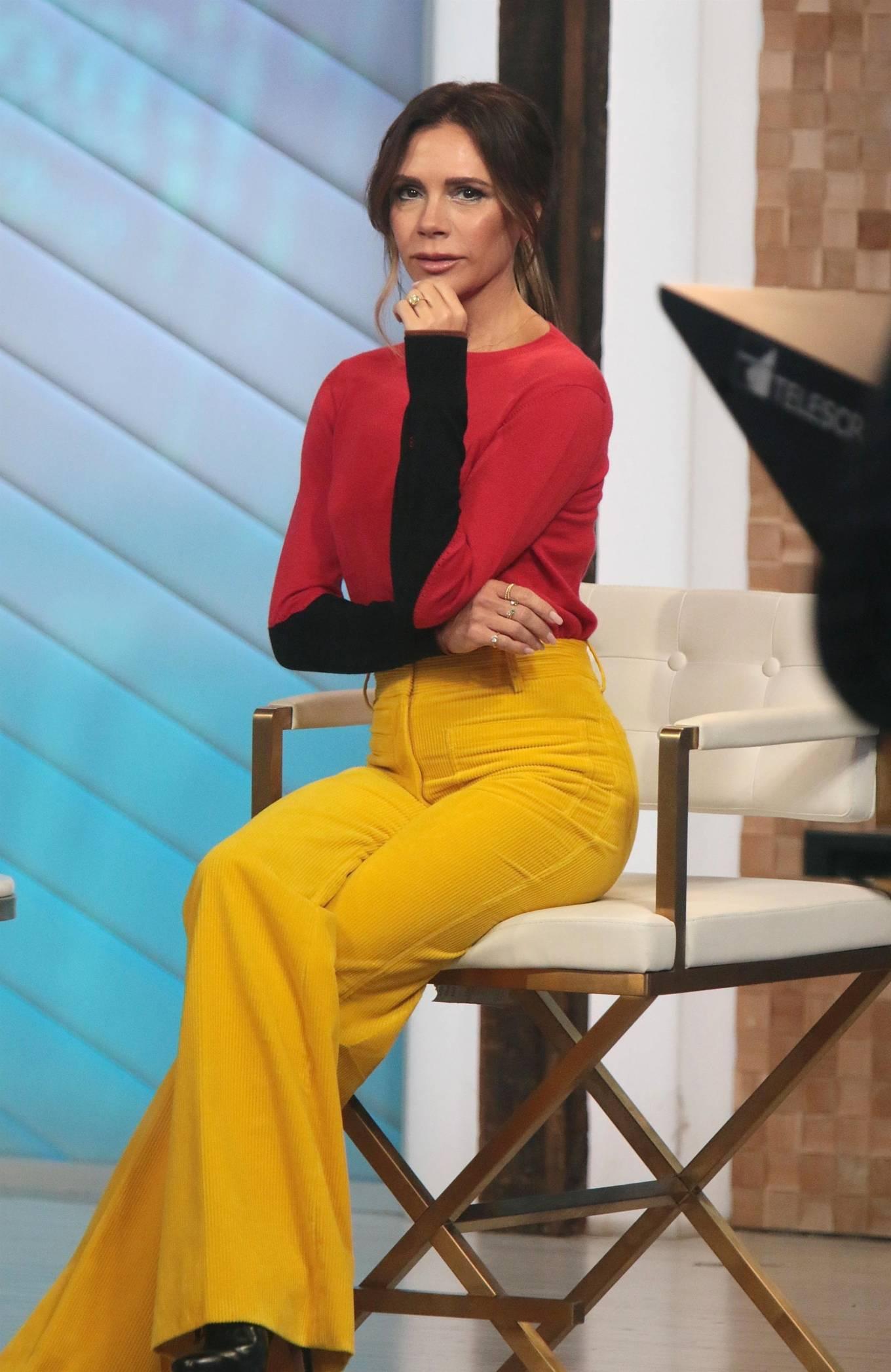 Victoria Beckham 2021 : Victoria Beckham – on Good Morning America promoting her new designer clothing in New York City-07