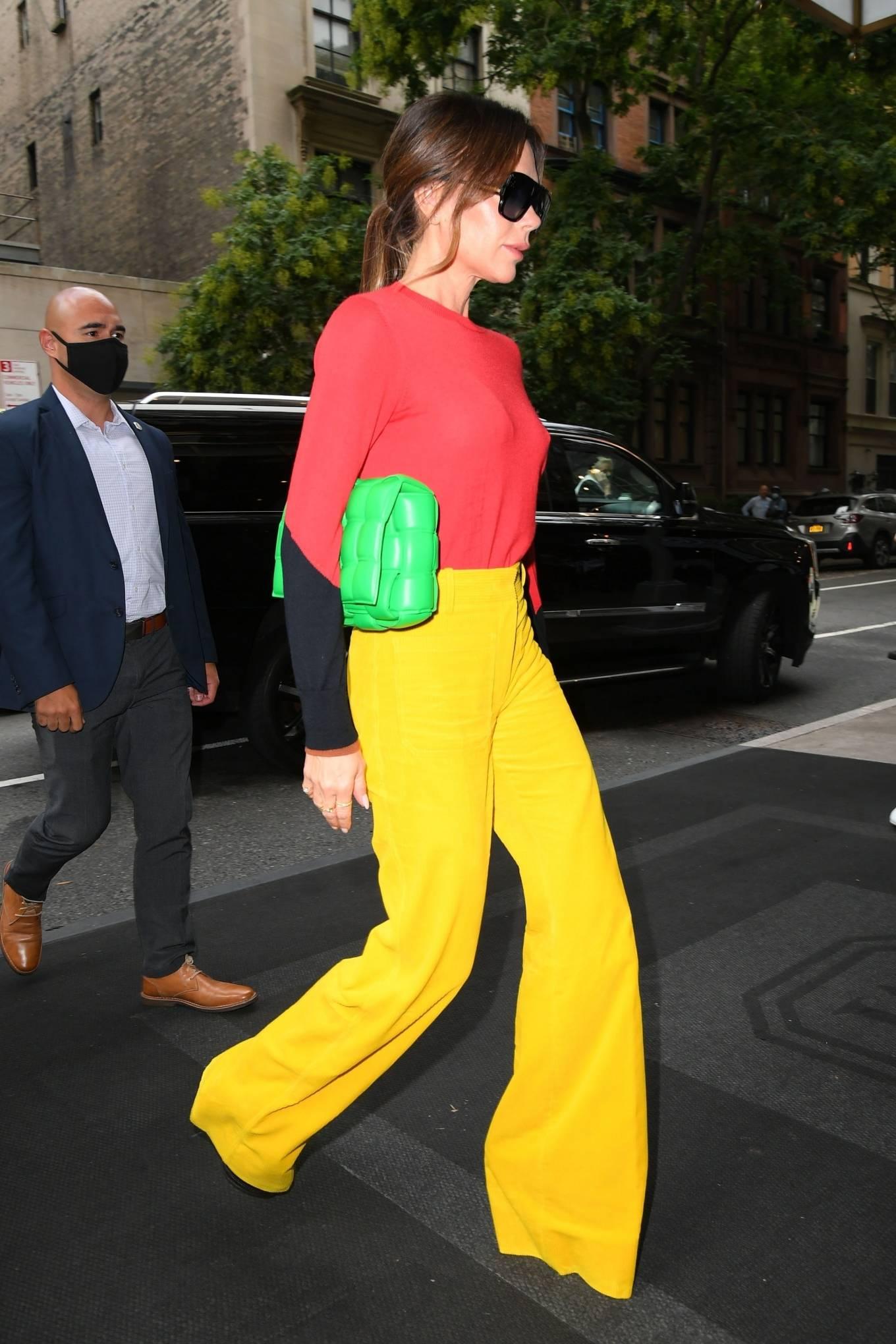 Victoria Beckham 2021 : Victoria Beckham – on Good Morning America promoting her new designer clothing in New York City-08