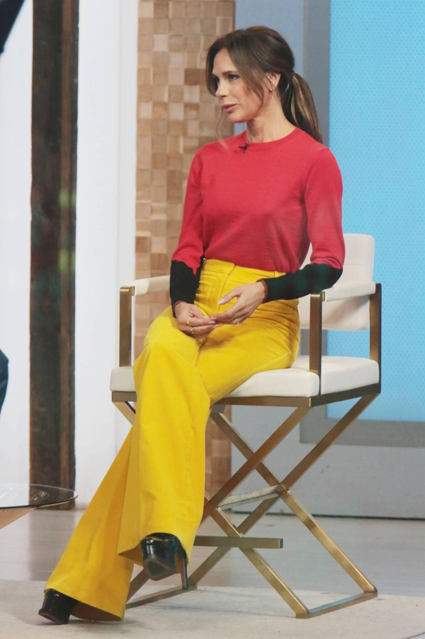 Victoria Beckham 2021 : Victoria Beckham – on Good Morning America promoting her new designer clothing in New York City-09