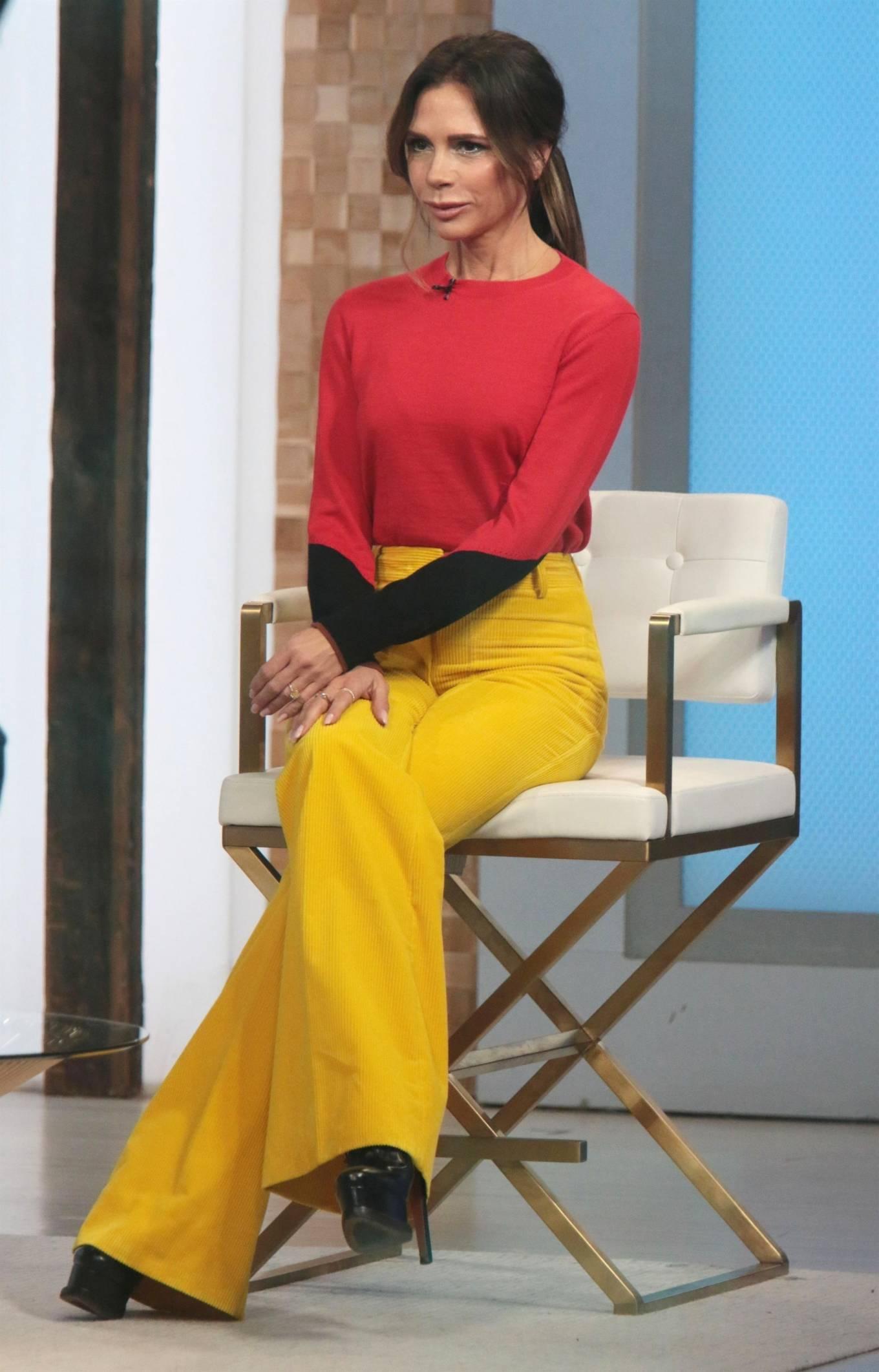 Victoria Beckham 2021 : Victoria Beckham – on Good Morning America promoting her new designer clothing in New York City-11