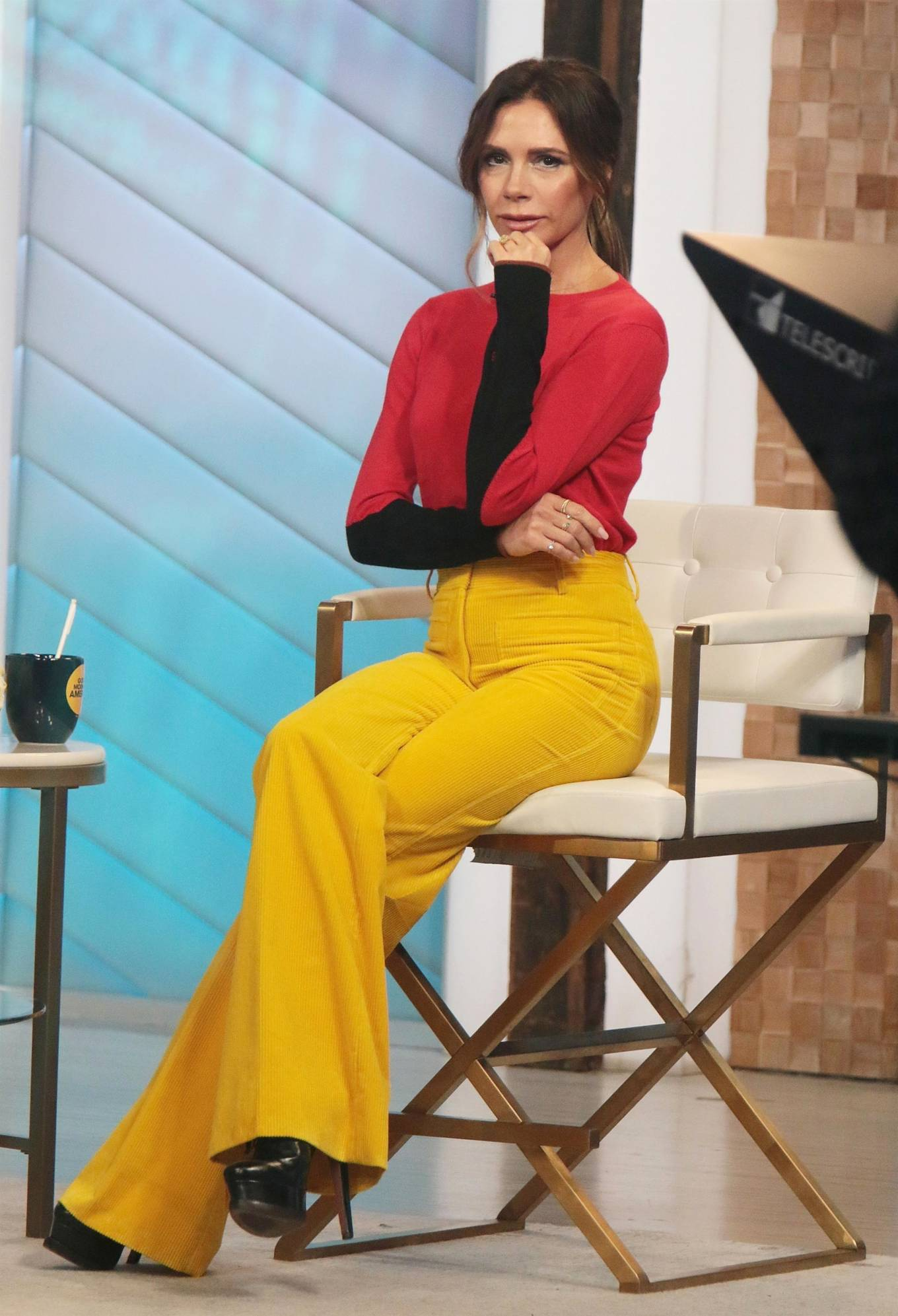 Victoria Beckham 2021 : Victoria Beckham – on Good Morning America promoting her new designer clothing in New York City-15