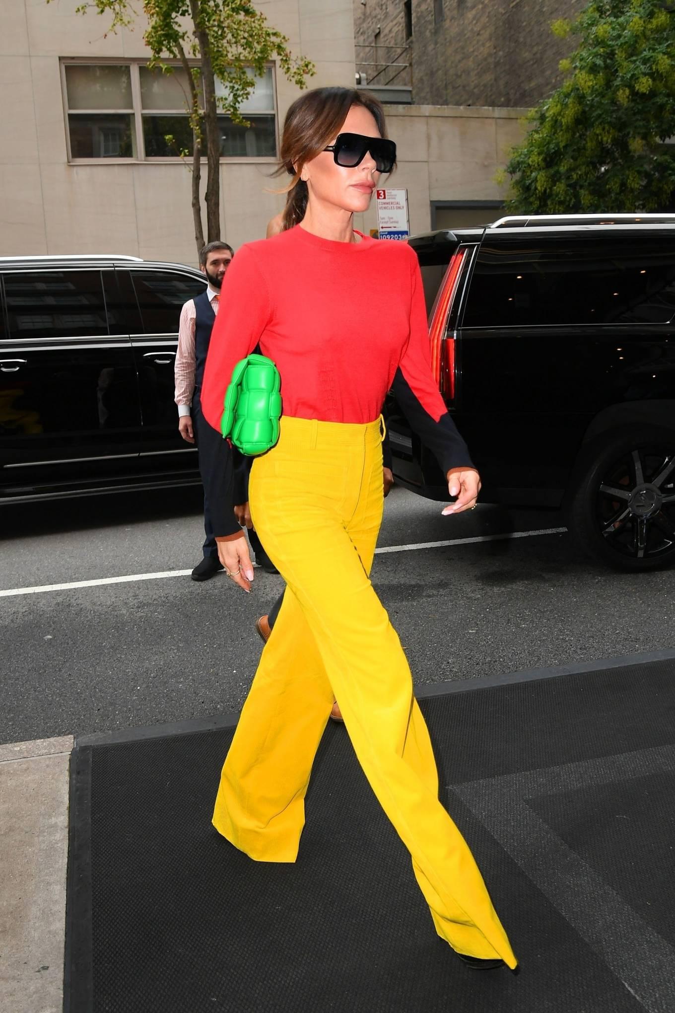 Victoria Beckham 2021 : Victoria Beckham – on Good Morning America promoting her new designer clothing in New York City-19