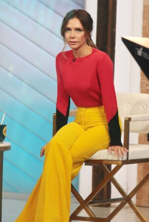 Victoria Beckham - on Good Morning America promoting her new designer clothing in New York City