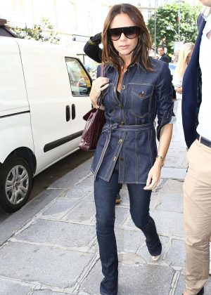 Victoria Beckham - Out and about in Paris