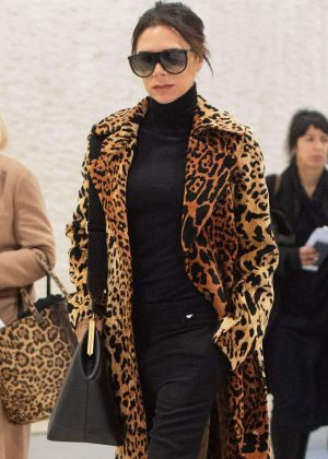 Victoria Beckham - Seen While arrive at JFK Airport in New York
