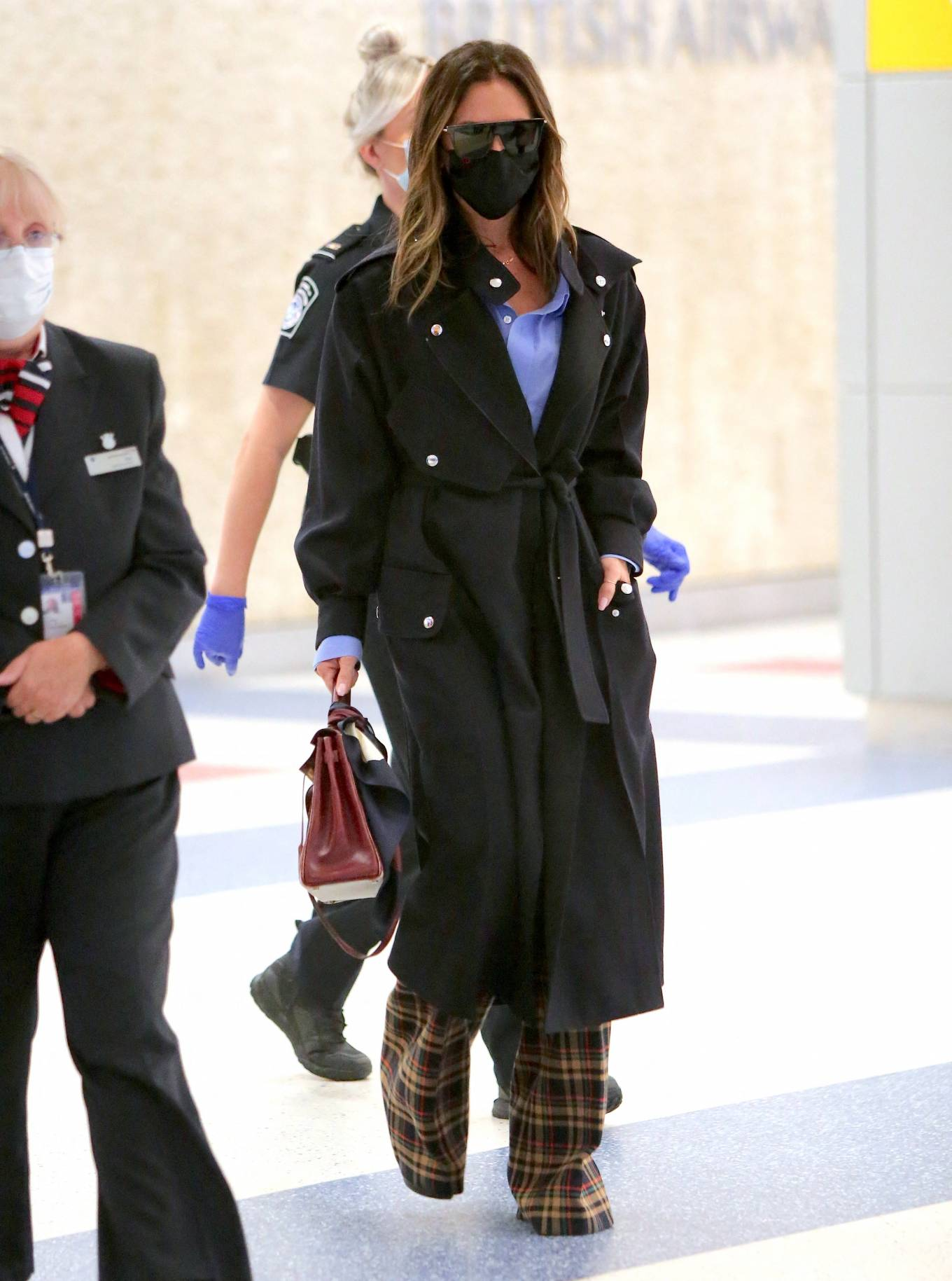 Victoria Beckham - Seen while rriving at JFK Airport in New York