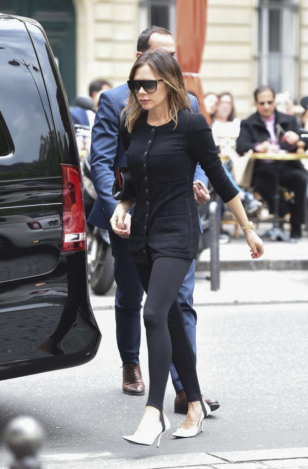 Victoria Beckham - Shopping at the Bon Marche's mall in Paris