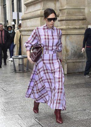 Victoria Beckham - Visits the Martin Margiella Exhibition in Paris