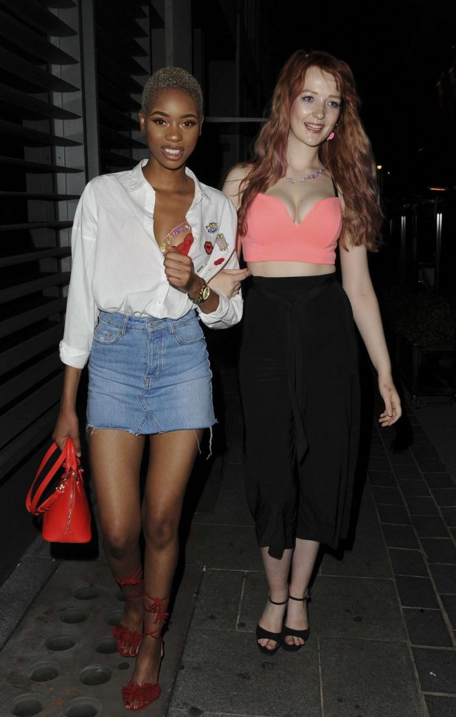 Victoria Clay And Jennifer Malengele: Seen At Cookoo Club In London-03
