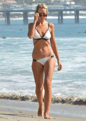 Victoria Hervey - White Bikini Candids - Malibu Beach