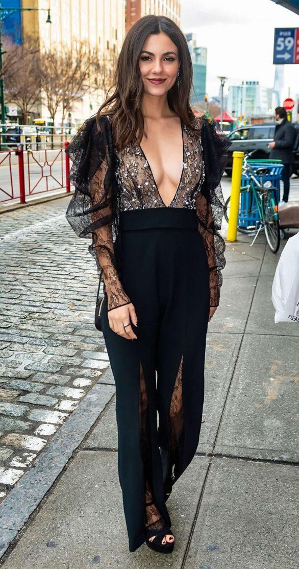 Victoria Justice - 2020 Pamella Roland show at New York Fashion Week