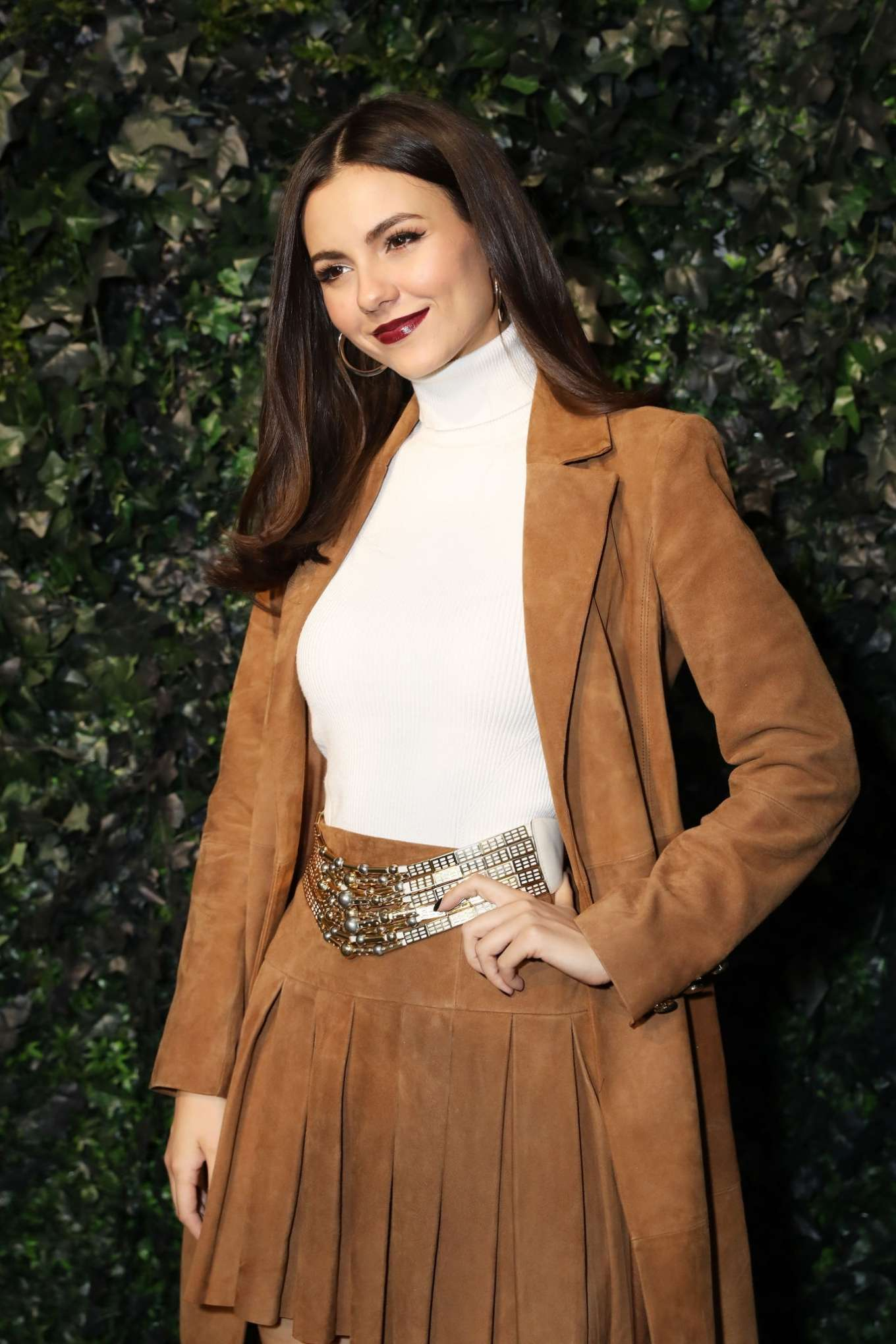 Victoria Justice - alice + olivia by Stacey Bendet Fall 2020 Presentation in NYC