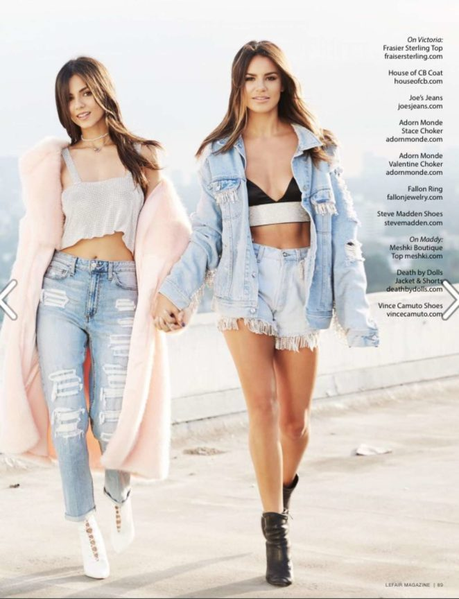 Victoria Justice and Madison Reed - Lefair Magazine (Fall 2017)