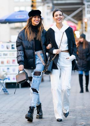 Victoria Justice and Madison Reed - Out in New York