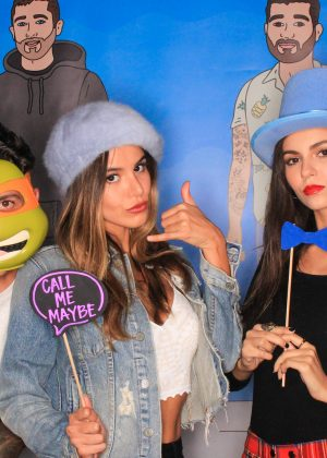 Victoria Justice and Madison Reed - Photobooth at an event in Beverly Hills