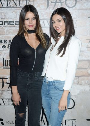 Victoria Justice and Madison Reed - TAO Group LA Grand Opening Block Party in Hollywood