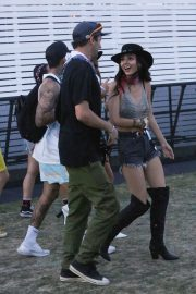 Victoria Justice and Reeve Carney at Coachella in Indio