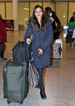 Victoria Justice - Arrives at Pearson International Airport in Toronto