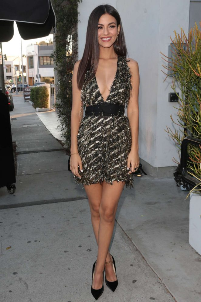 Victoria Justice - Arrives to Harper's BAZAAR party in West Hollywood