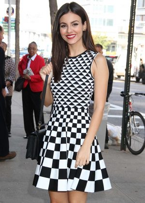 Victoria Justice - Arriving at the 'Harry' show in New York City