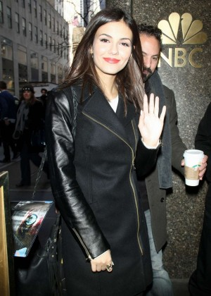 Victoria Justice - Arriving at the NBC Studios in NYC