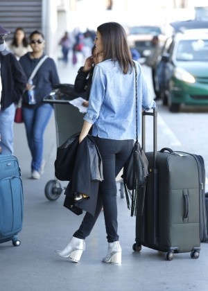 Victoria Justice Booty in Jeans at LAX airport in LA