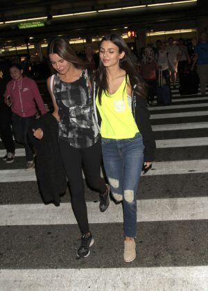 Victoria Justice at LAX in Los Angeles