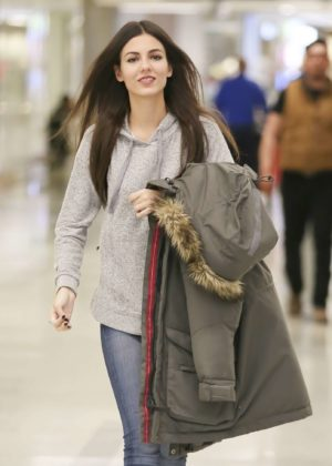 Victoria Justice at LAX International Airport in Los Angeles