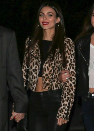 Victoria Justice at Red Hot Chili Peppers concert at the Staples Center in Los Angeles