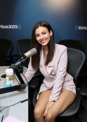 Victoria Justice at SiriusXM Studios in New York
