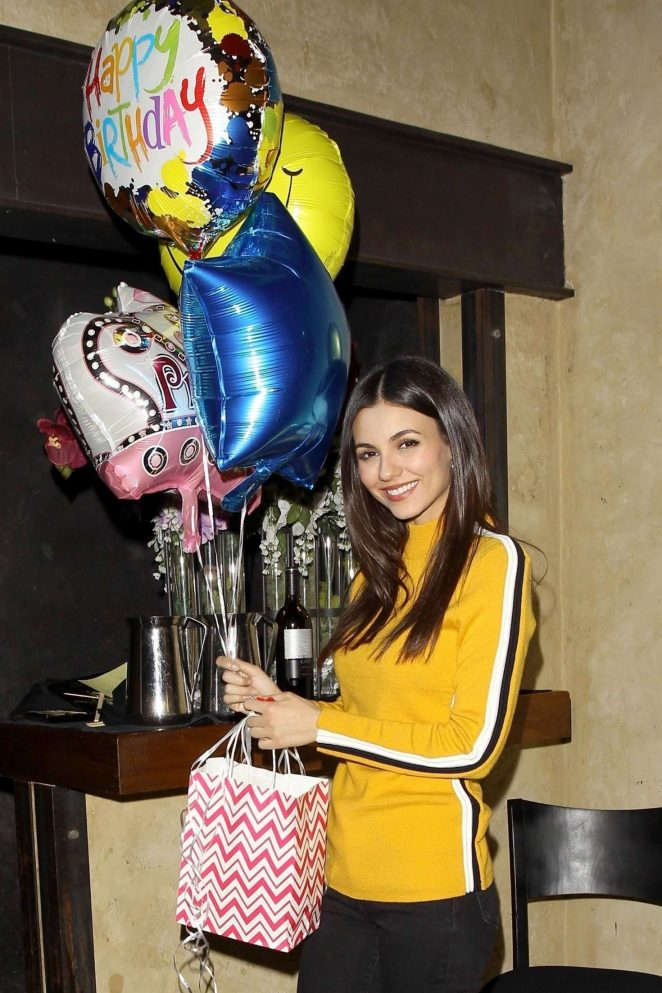 Victoria Justice - Celebrates her 25th Birthday at Katana in West Hollywood