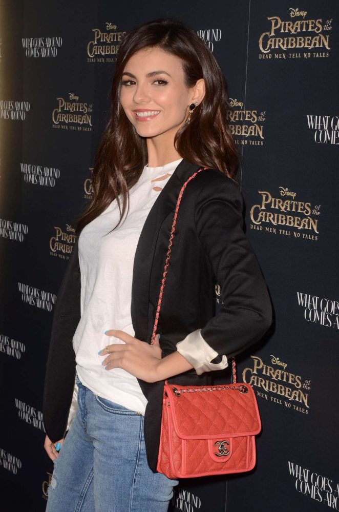 Victoria Justice - Disney's 'Pirates of the Caribbean: What Comes Around Goes Around' event in Beverly Hills