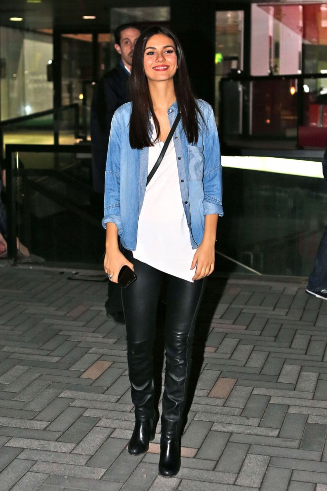Victoria Justice - Going to a Crew Party for Rocky Horror in Toronto