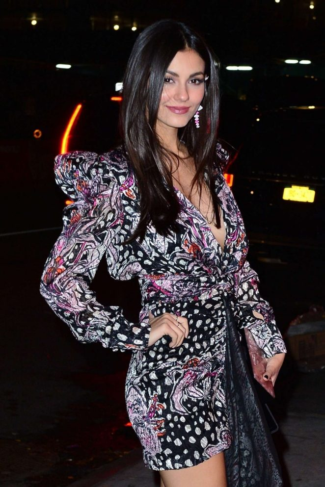 Victoria Justice – Heading to the Victoria's Secret Fashion Show After Party in NYC