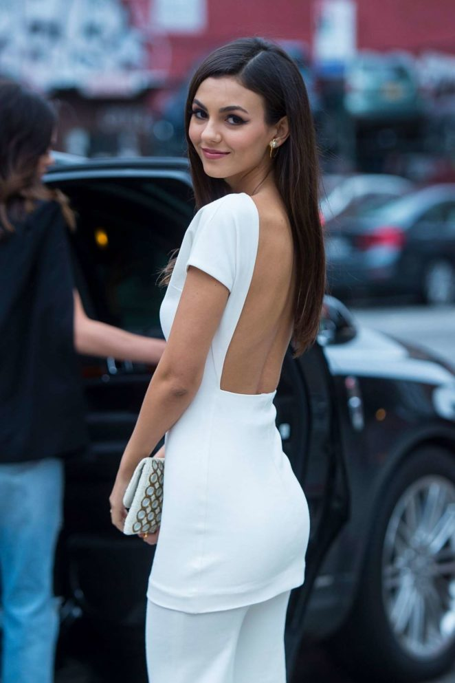 Victoria Justice Hot In White In Nyc