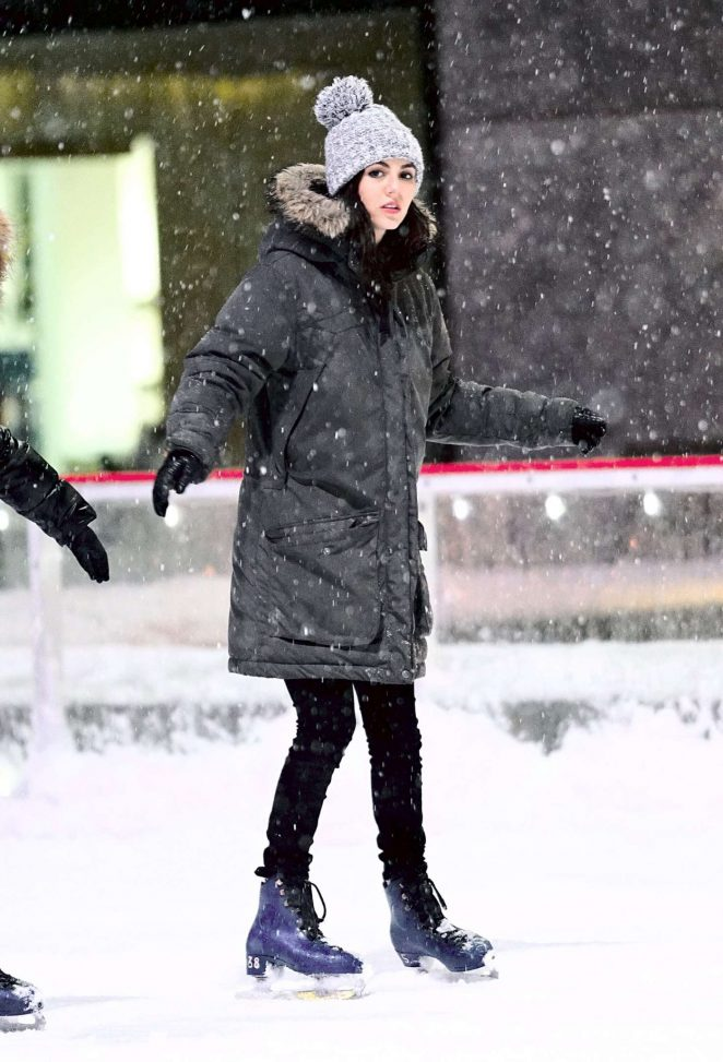 Victoria Justice - Ice Skating at Rockefeller Center in New York City