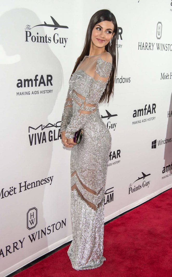 Victoria Justice – In a hot dress at 7th Annual amfAR Inspiration Gala in NYC