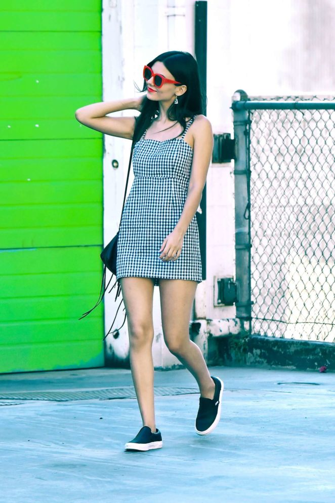 Victoria Justice: In Mini Dress Out in Studio City-13