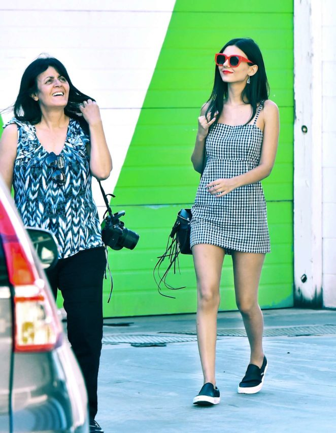 Victoria Justice: In Mini Dress Out in Studio City-16