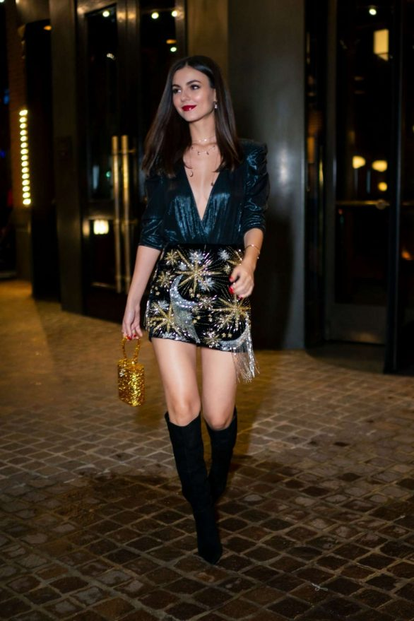Victoria Justice in Mini Skirt - Out in New York