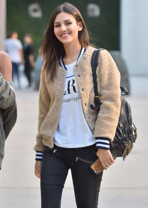Victoria Justice in Ripped Jeans out in Hollywood