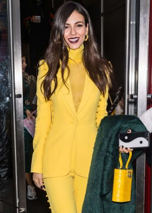 Victoria Justice - Leaving the Pamella Roland Fashion Show in NYC