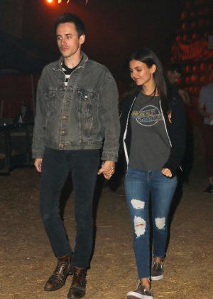 Victoria Justice - Los Angeles Halloween Haunted Hayride at Griffith Park