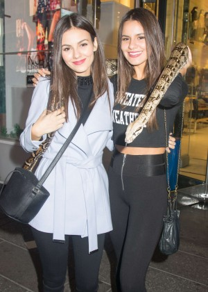 Victoria Justice and Madison Reed - Out and about in NYC