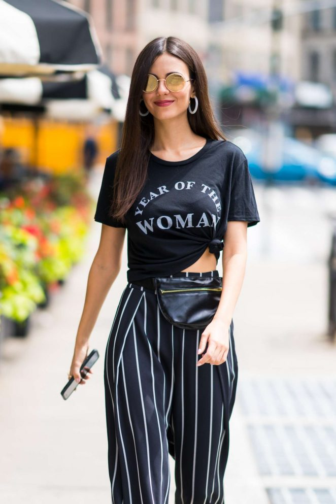 Victoria Justice out in New York City