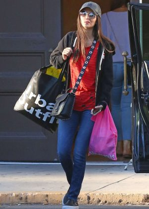 Victoria Justice out shopping at Urban Outfitters in Studio City