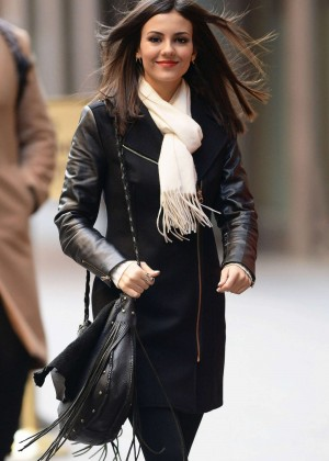 Victoria Justice - Outside SiriusXM Studios in NY